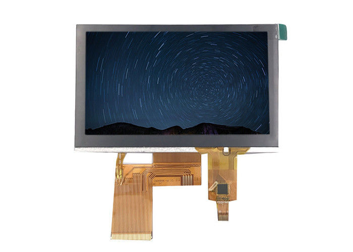 White Words Tft LCD Capacitive Touchscreen Module Over Blue Background 4.3inch 480*272